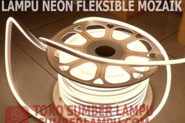 lampu neon fleksible mozaik