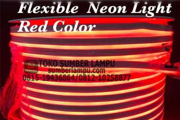 lampu flexible neon merah