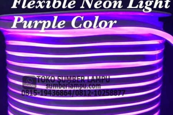 lampu flexible neon purple