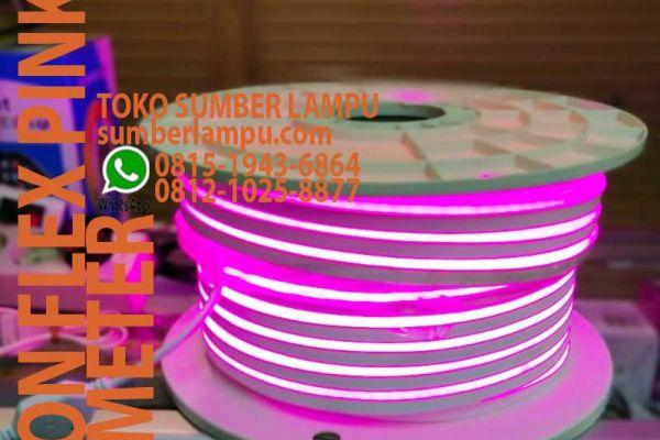 lampu neon flex pink