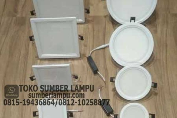 lampu downlight panel kaca