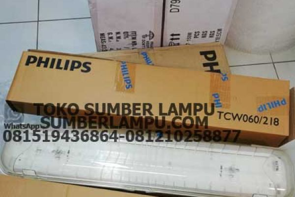 lampu waterproof philips tcw 2x18w
