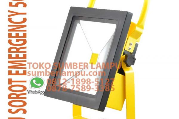 lampu sorot emergency 50w