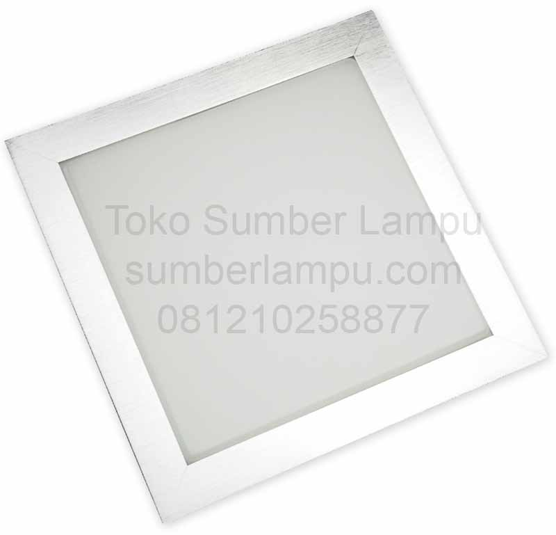 lampu downlight LED Panel persegi empat