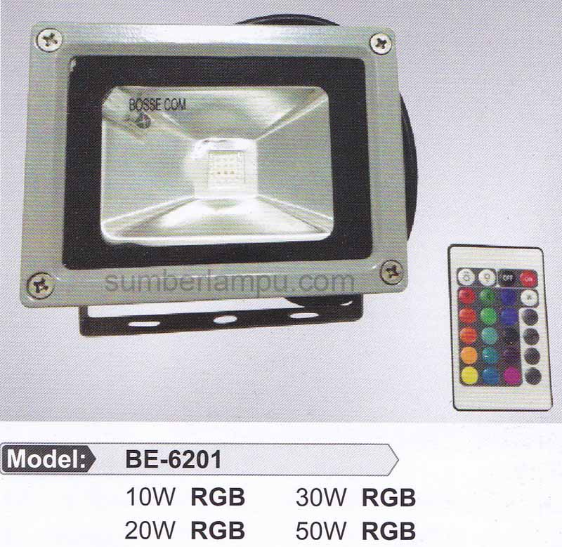lampu hias sorot RGB plus remote model BE-6201