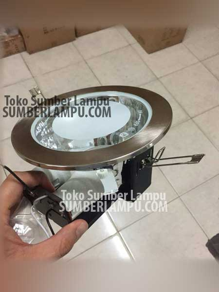 Lampu Downlight 2xE27 Bulat Frosted