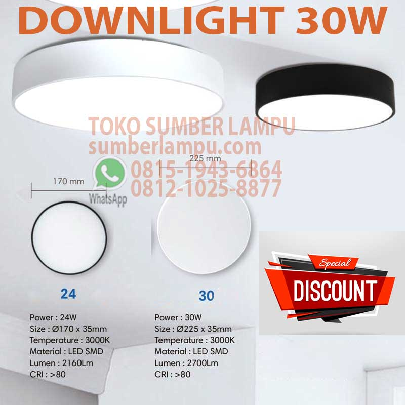 downlight led 30w