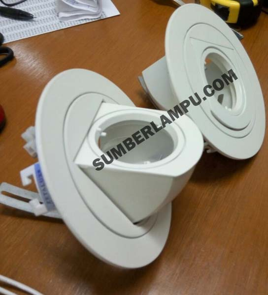 Rumah Lampu Downlight Wallwasher Keong 180D