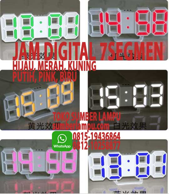 jam digital led