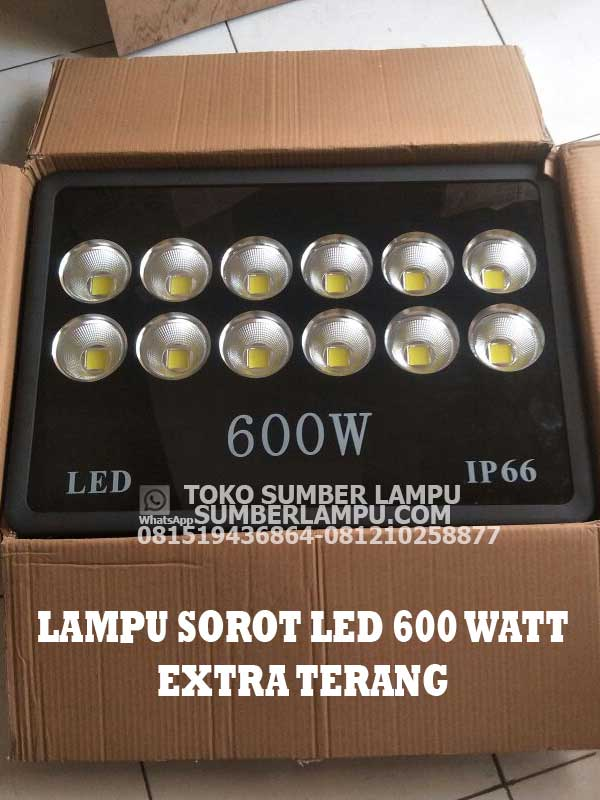 lampu sorot led 600 watt