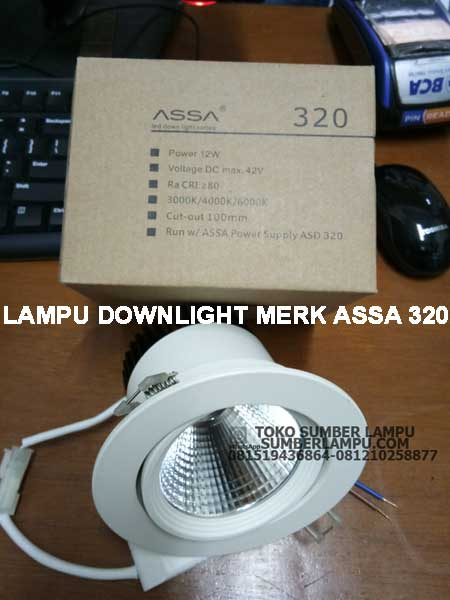 lampu downlight assa 320