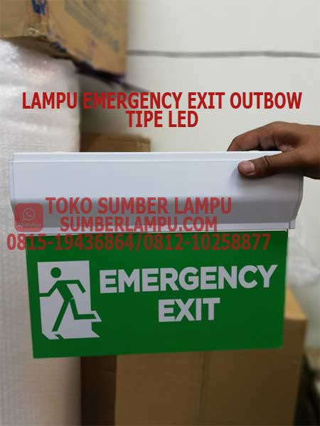 lampu exit outbow emergency