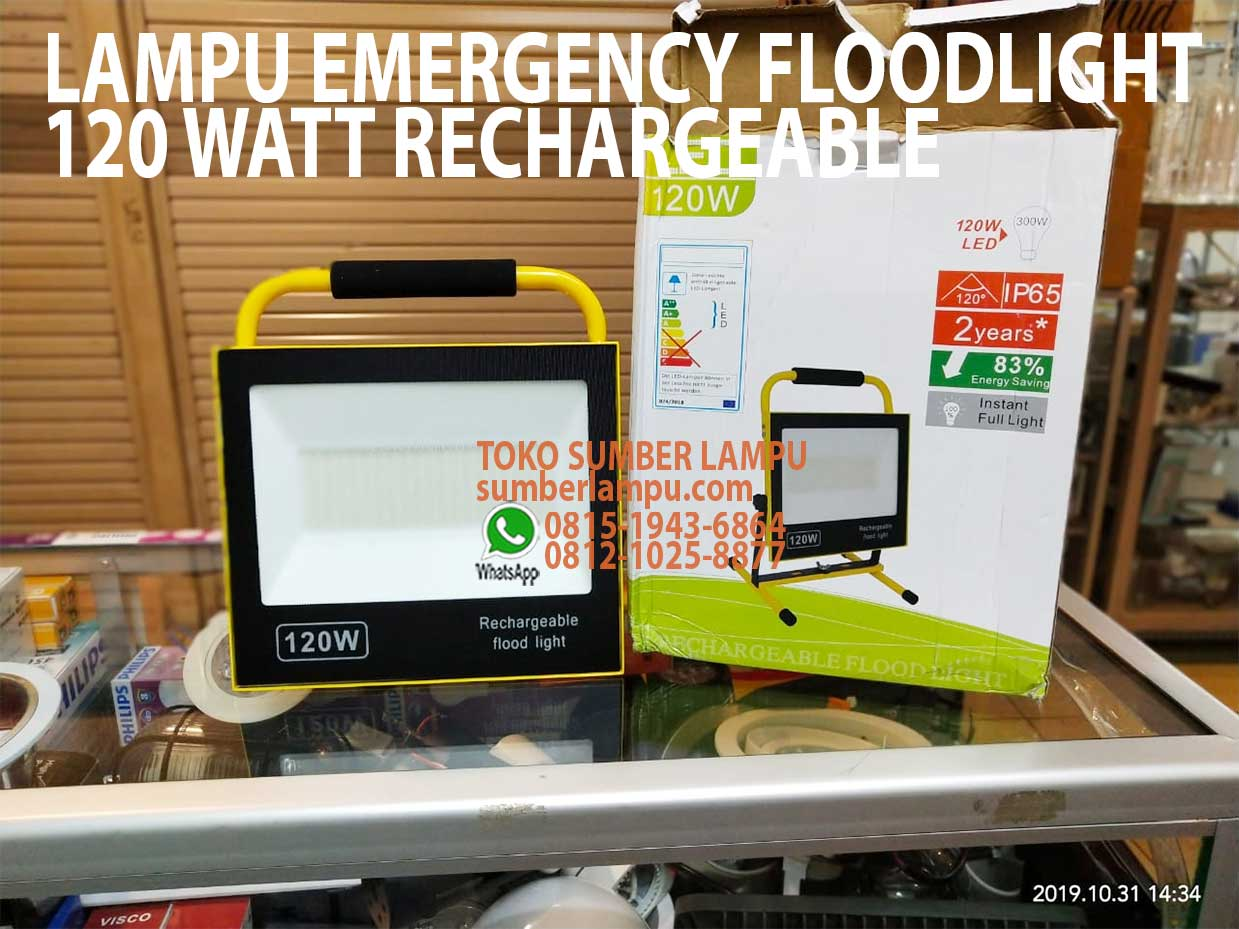 lampu emergency floodlight 120w