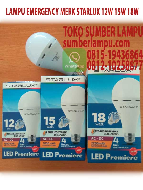 lampu emergency starlux 18w