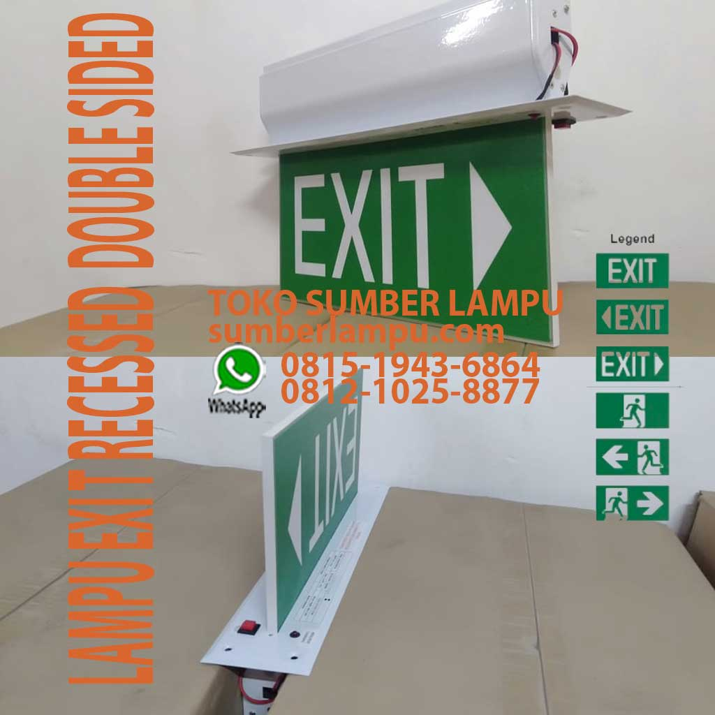 lampu exit emergency inbow