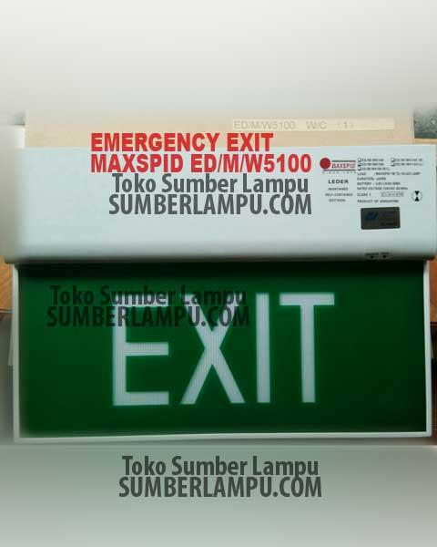 Lampu EXIT Maxspid ED-M-W5100 - Sumber Lampu sumberlampu.com