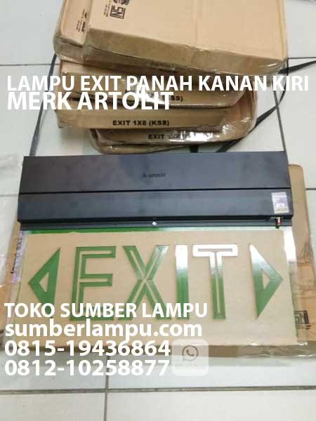 Lampu Exit Merk Artolite Tl T5 8 Watt Sumberlampu Com