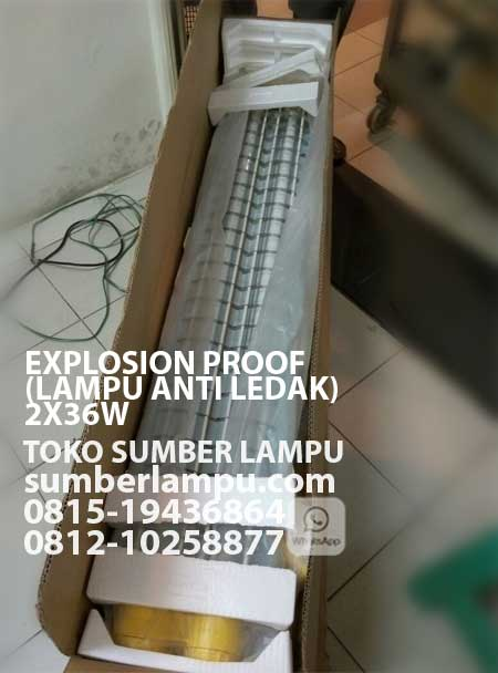 lampu anti ledak explosion proof 2x36 watt