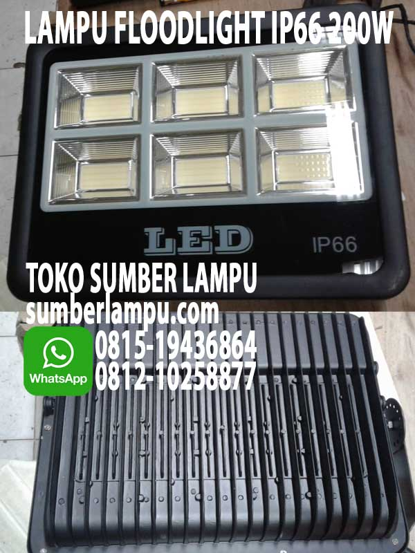 lampu floodlight ip66 200w