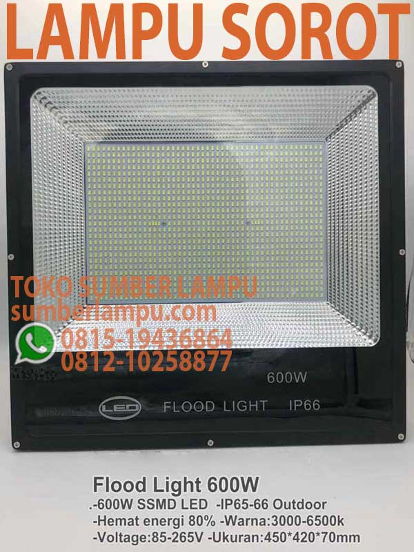 lampu floodlight led 600w