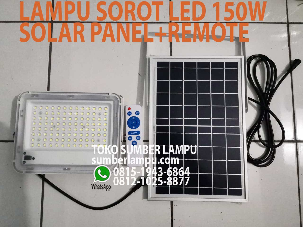 lampu floodlight panel surya