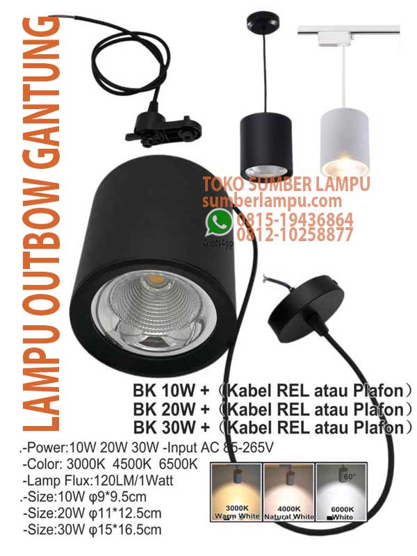 lampu gantung outbow led