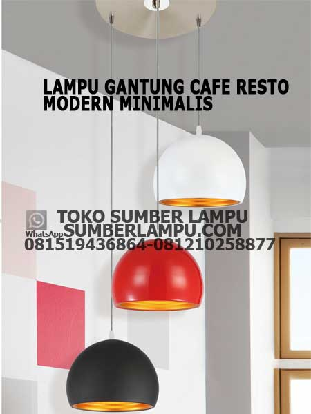 Lampu Gantung Untuk Cafe Modern Minimalis Sumberlampu Com