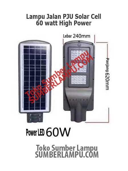 Lampu Jalan Solar Cell 60 Watt Ekonomis Sumberlampu Com