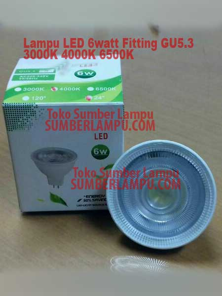 lampu led 4000k 6 watt