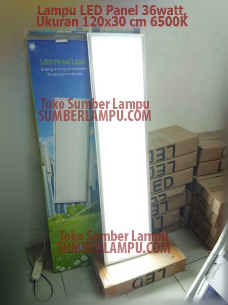 Lampu 120x30 cm Panel LED 36 watt