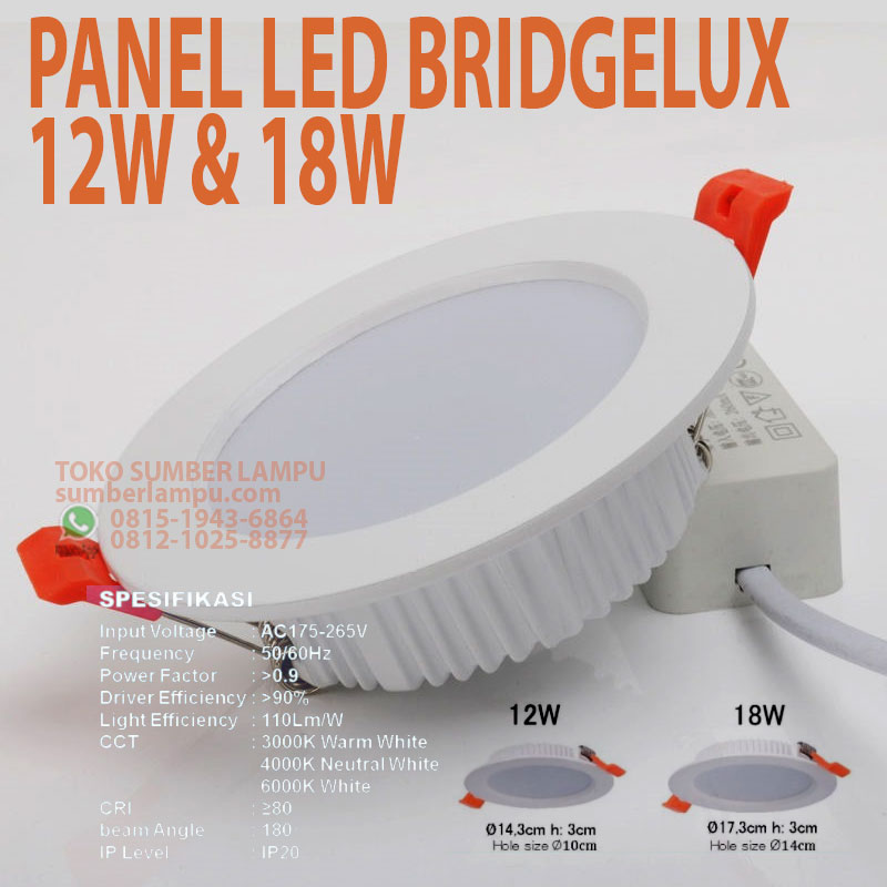 lampu panel led bridgelux