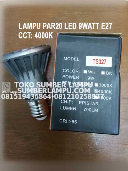 Lampu PAR20 LED 9 watt CCT 4000K