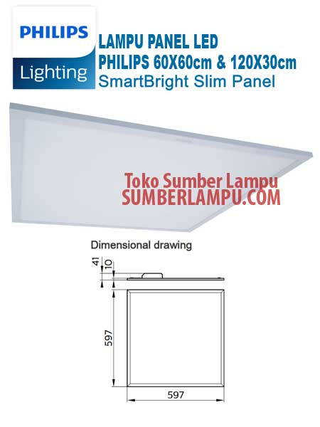 Lampu Philips RC091V Smartbright Slim Panel 34w 45w