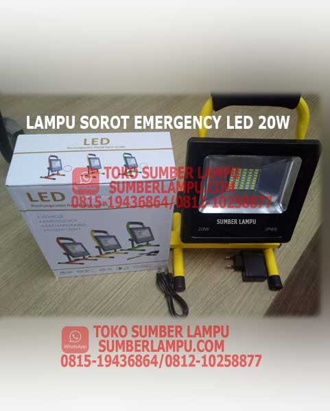 Lampu Sorot Emergency LED 20 watt
