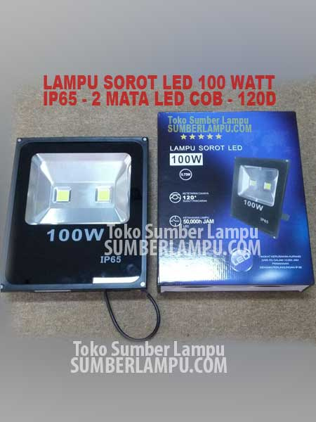 Lampu Sorot LED Outdoor 100 watt COB 2 Mata