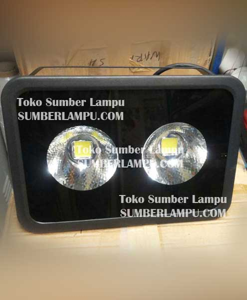 Lampu Sorot LED 100watt 2 Mata Chip