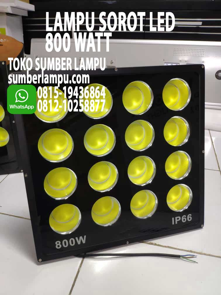 lampu sorot led 800 watt