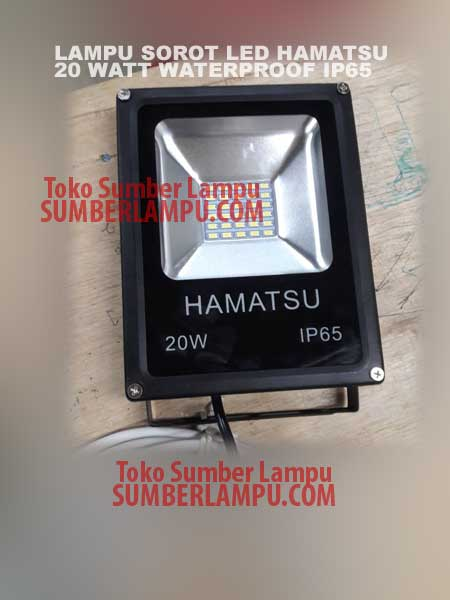 Lampu Sorot LED merk Hamatsu Waterproof 20 watt
