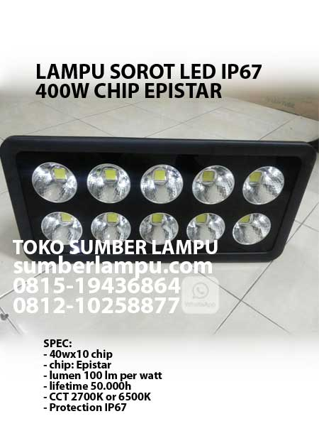 lampu sorot led ip67 400 watt