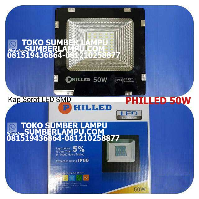 Lampu Sorot LED merk Philled 50w IP66