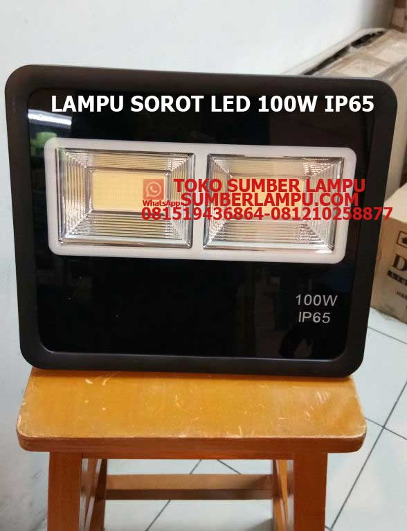 Lampu Sorot LED 100w IP65 Model Baru