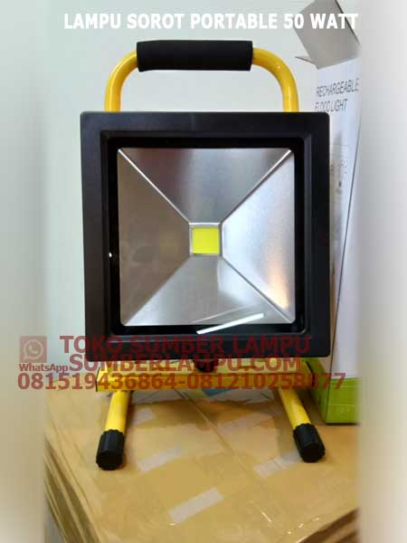 lampu sorot led portable 50 watt