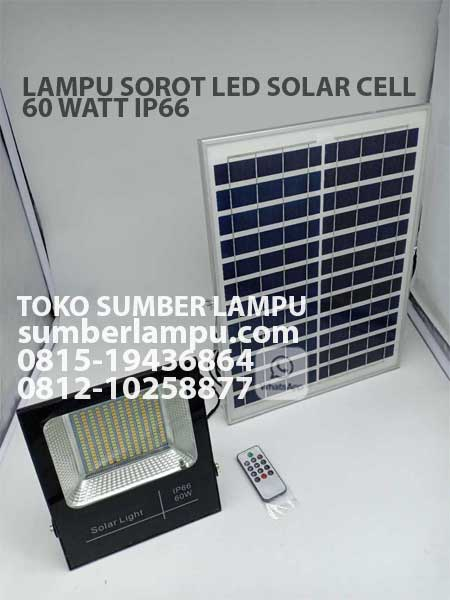 lampu sorot led solar cell