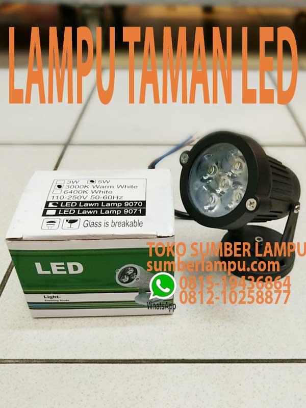 Lampu Sorot Led Taman 5w 3000k Sumberlampu Com