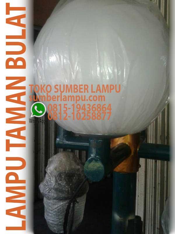 Lampu Taman Bulat 45 Cm Anti Pecah Sumberlampu Com