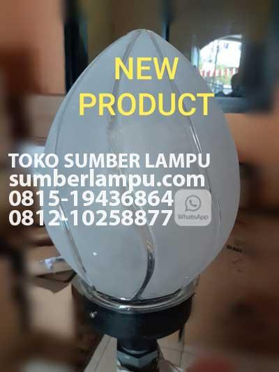 Lampu Taman Kaca Model Oval Modern Sumberlampu Com