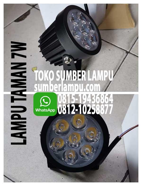 Lampu Taman Led 7w 3000k Dan 6000k Sumberlampu Com
