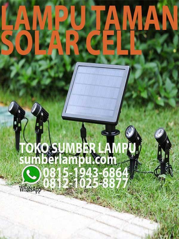 Jual Lampu Taman Tenaga Surya Led 3000k 6000k Sumberlampu Com