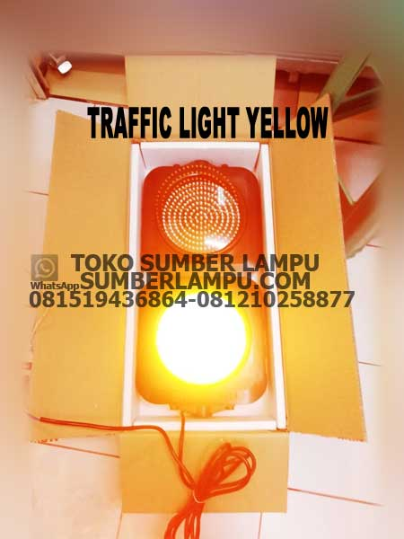 lampu traffice light yellow