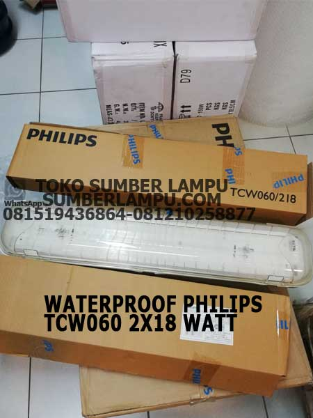 philips waterproof tcw060 2x18 watt